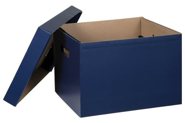 Marbig Archive Box Navy X CARTON of 10 8018101