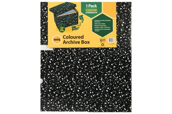 Marbig Archive Box Terrazzo X CARTON of 10 8019102