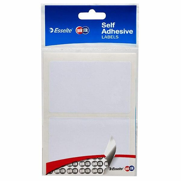 Quikstik Labels Hangsell Rectangle 48x75mm White 12 80357RP