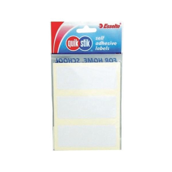 Quikstik Labels Hangsell Rectangle 29x76mm White 21 80415RPWHT