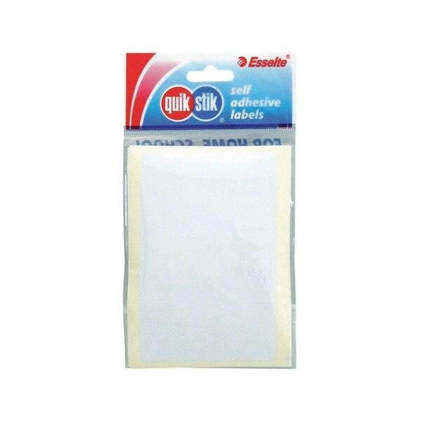 Quikstik Labels Hangsell Rectangle 70x108mm White 7 80423RPWHT