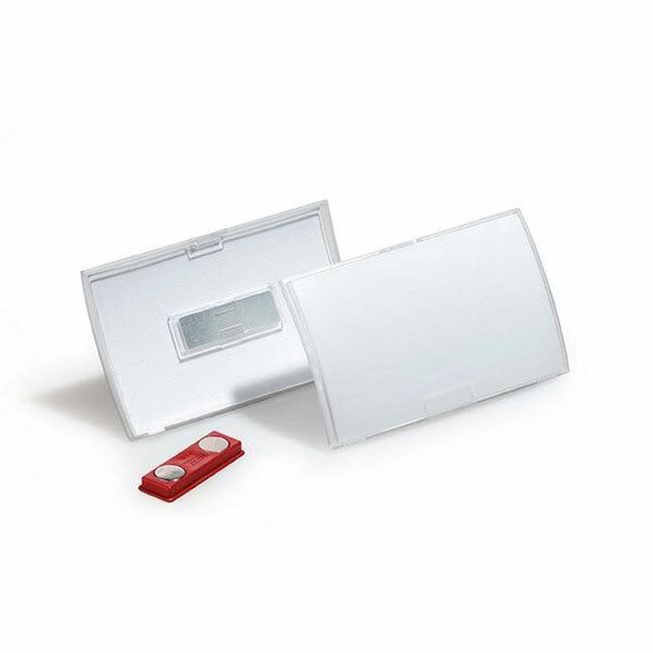 DURABLE Name Badge With Magnetic Clip Box10 821519