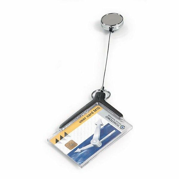 DURABLE Deluxe Pro Card Holder With Reel Box10 830758