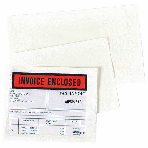 Marbig Invoice Enclosed 115x150mm Box1000 846230