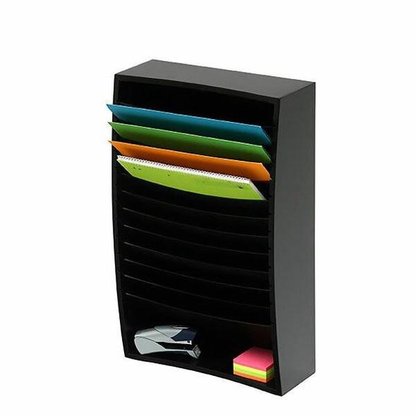 Marbig Organiser Desktop 12 Tier Black 86200B