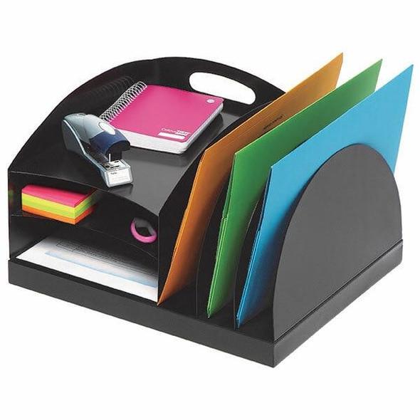 Marbig Organiser Desktop Metal 2 Way Black 86206B