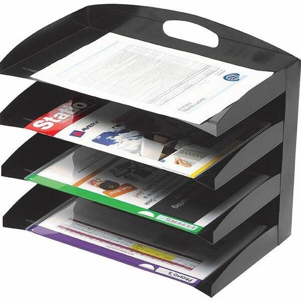 Marbig Organiser Desktop Metal 4 Tier Black 86210B