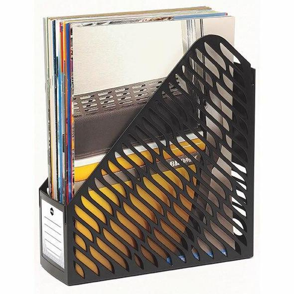 Marbig Magazine Rack Twin Pack Black X CARTON of 4 864002B