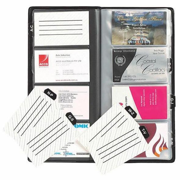 Marbig Business Card Holder 96cap Black X CARTON of 12 8703502
