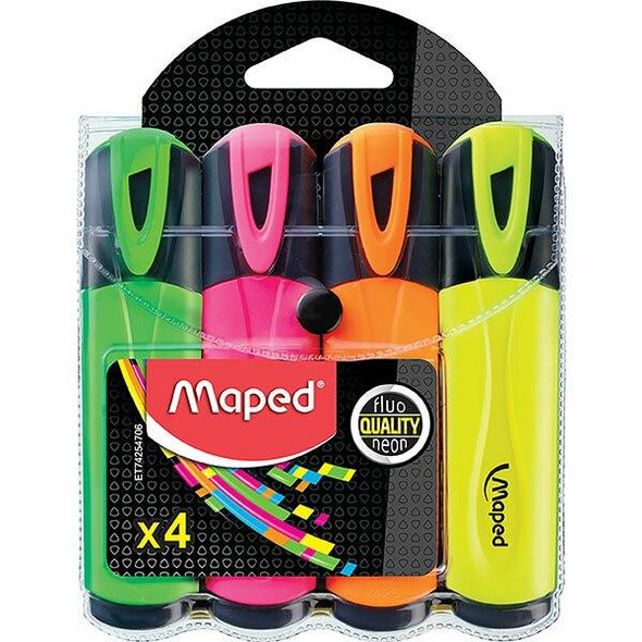 Maped Fluo Peps Highlighter Wallet4 8742547