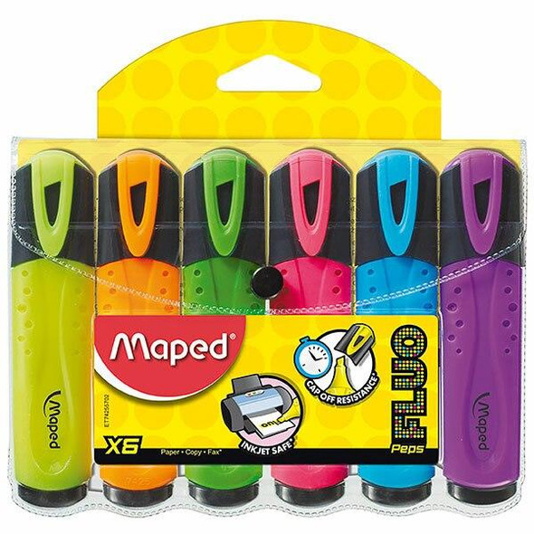Maped Fluo Peps Highlighter Wallet6 8742557