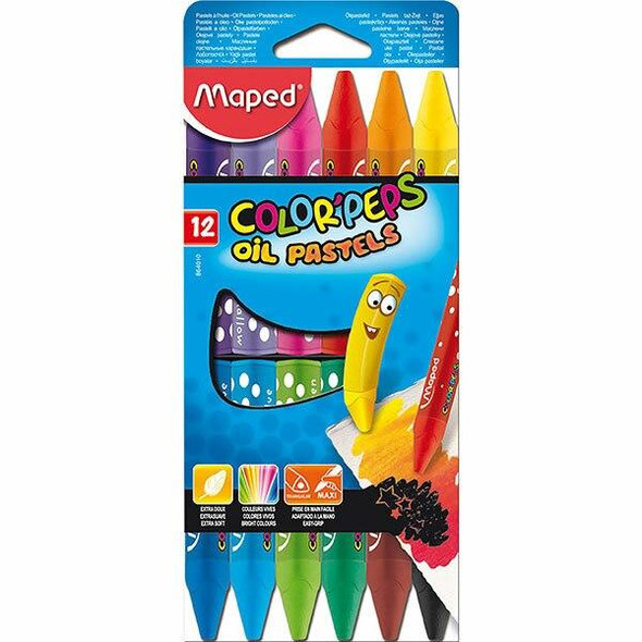 Maped Color Peps Oil Pastel Pack12 X CARTON of 6 8864010