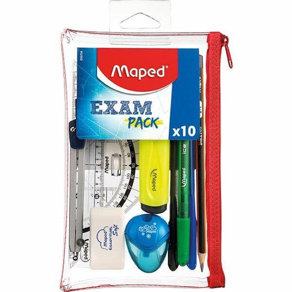 Maped Transparent Exam Pack 10pc X CARTON of 12 8899704