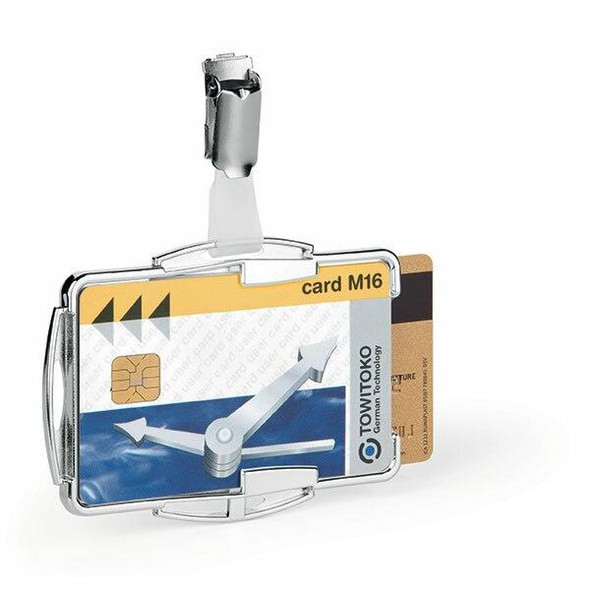 DURABLE Card Holder Rfid Secure Duo Silver Pack10 890223