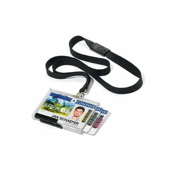 DURABLE Push Box Trio With Lanyard Black Pack10 892501