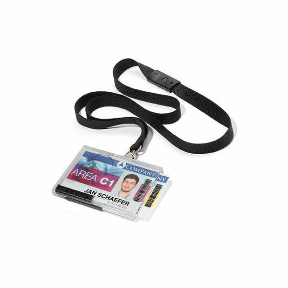 DURABLE Push Box Duo With Lanyard Black Pack10 892601