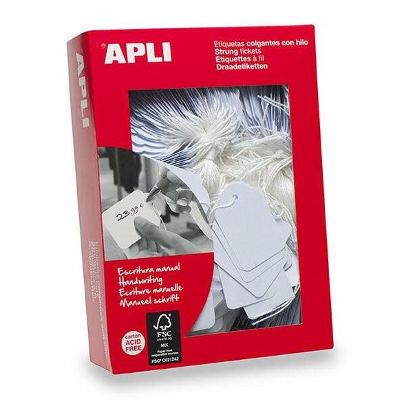 APLI Handwriting Strung Tickets 00390 22x35mm Box500 900390