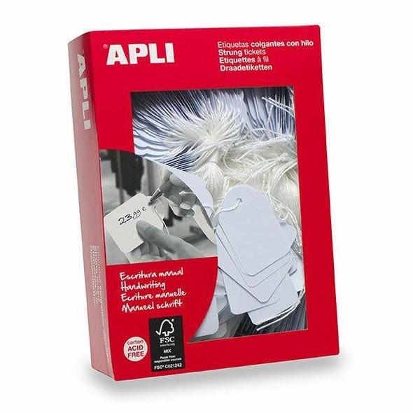 APLI Handwriting Strung Tickets 00396 50x70mm Box400 900396