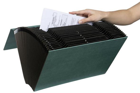 Marbig Expanding File Foolscap Heavy Duty 1-31 Green X CARTON of 6 90058