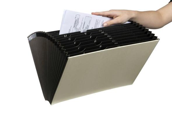 Marbig Expanding File Foolscap Heavy Duty No Flap X CARTON of 10 90061