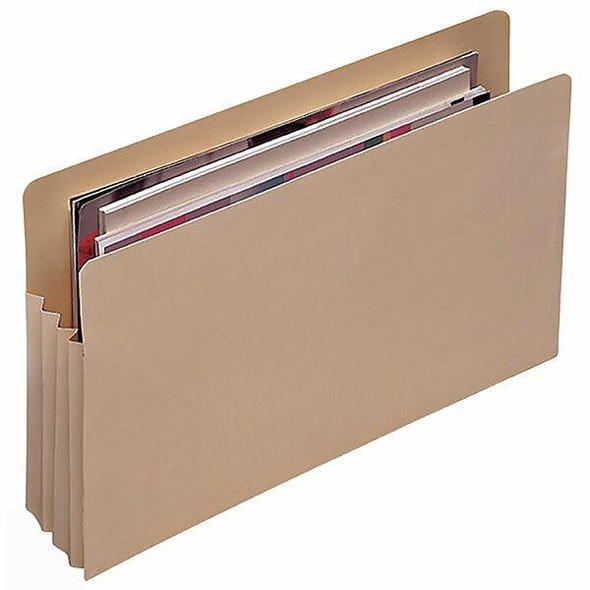 Marbig Expanding File Jackets Foolscap Buff Pack5 X CARTON of 6 90066
