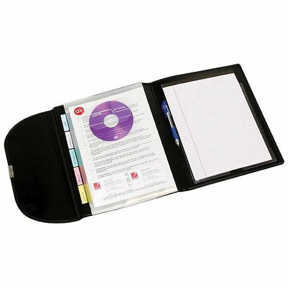 Marbig Compendium 5 Pocket Pp Black X CARTON of 5 90069