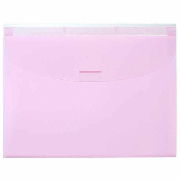 Marbig Expanding Wallet3 Tabs Pastel Pink X CARTON of 8 900693