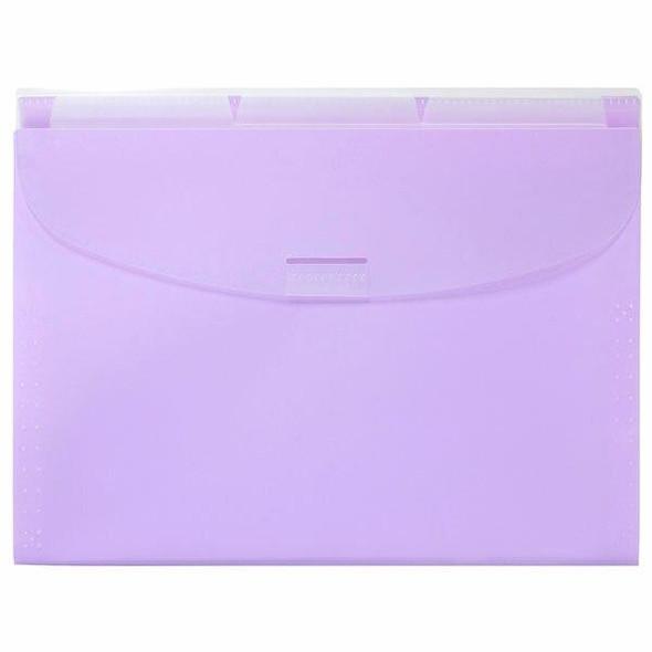 Marbig Expanding Wallet3 Tabs Pastel Purple X CARTON of 8 900694