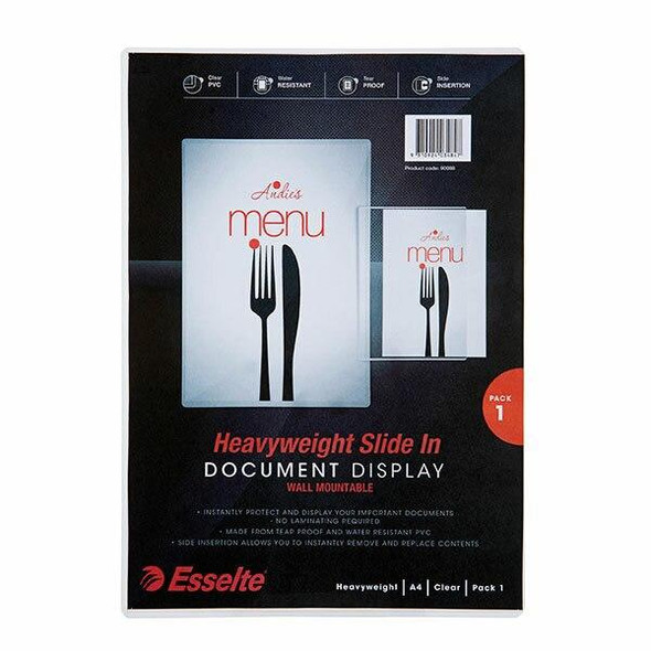 Esselte A4 Sign / Document Display Clear X CARTON of 5 90088