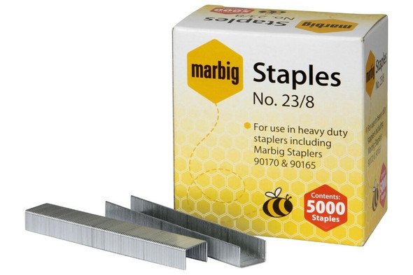 Marbig Staples 23/8mm Box5000 Heavy Duty 90208