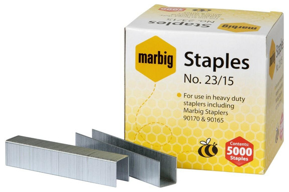 Marbig Staples 23/15mm Box5000 Heavy Duty 90215