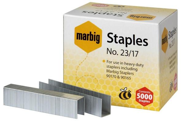 Marbig Staples 23/17mm Box5000 Heavy Duty 90217