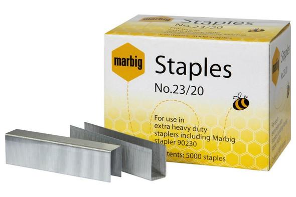 Marbig Staples 23/20mm Box5000 Heavy Duty 90220