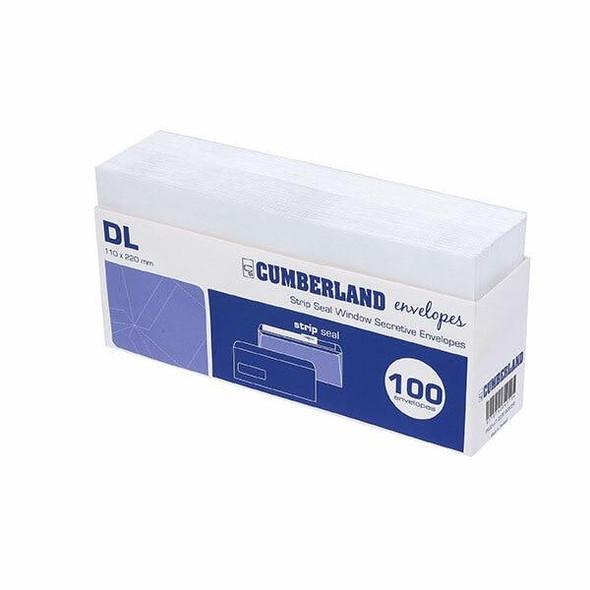 CUMBERLAND Strip Seal Retail 80gsm Dl 110 X 220mm White Tray100 903356