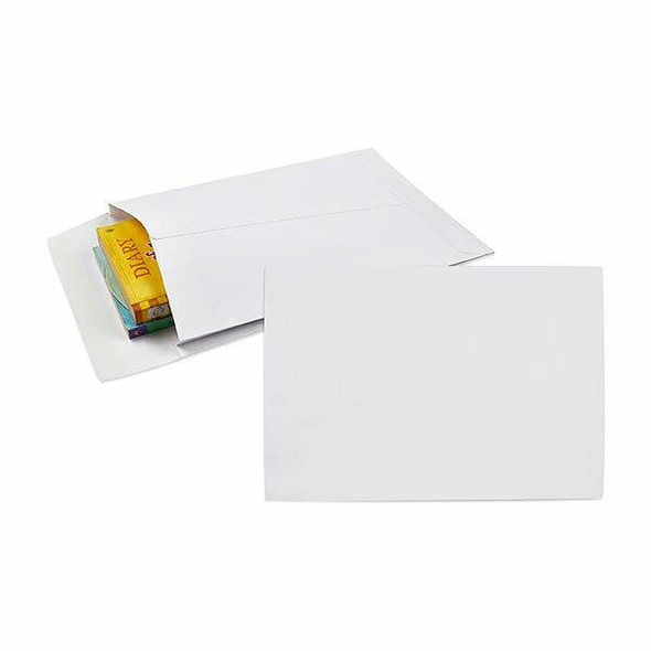 CUMBERLAND Strip Seal Expandable Envelope 150gsm 340 X 229mm White Pack50 920387