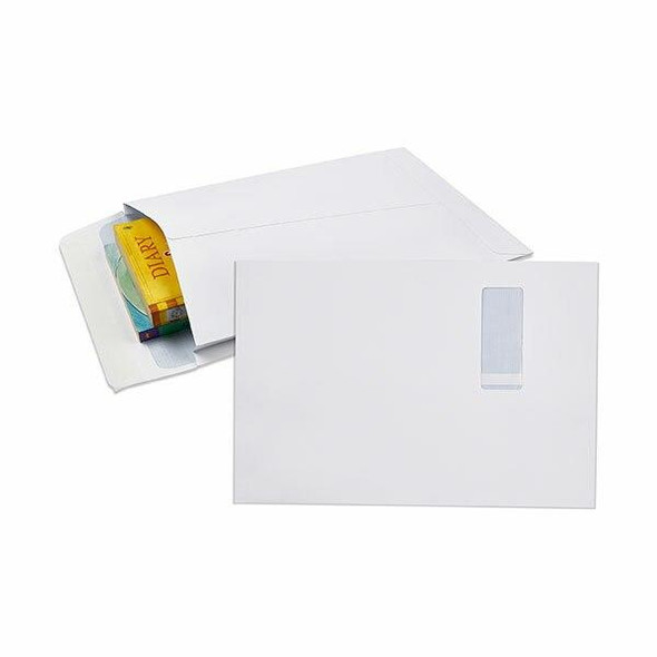 CUMBERLAND Strip Seal Expandable Envelope 150gsm 340 X 229mm White Pack50 920397
