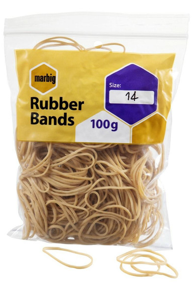 Marbig Rubber Bands Size 14 94514100B