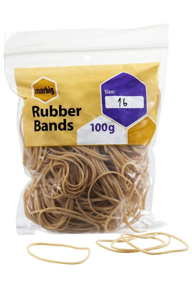 Marbig Rubber Bands Size 16 94516100B