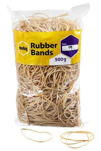 Marbig Rubber Bands Size 19 X CARTON of 5 94519500B