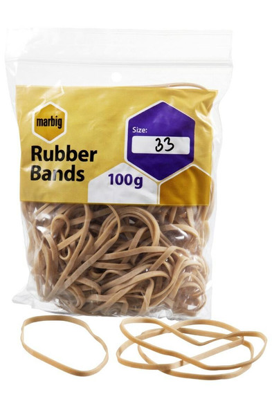 Marbig Rubber Bands Size 33 94533100B