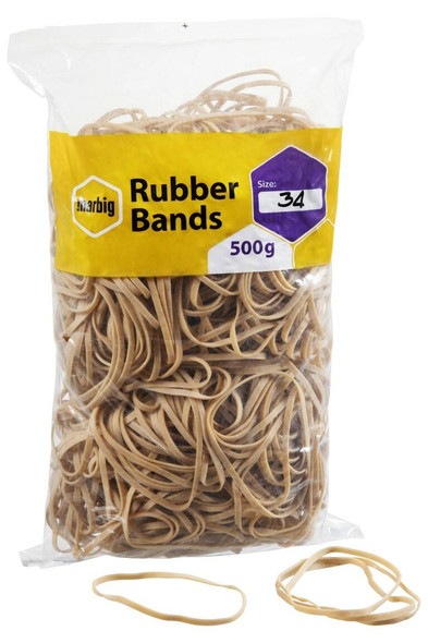 Marbig Rubber Bands Size 34 X CARTON of 5 94534500B