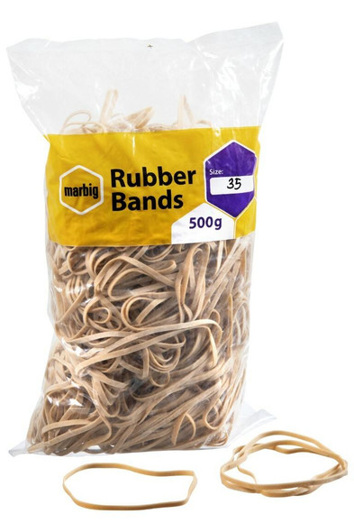 Marbig Rubber Bands Size 35 X CARTON of 5 94535500B