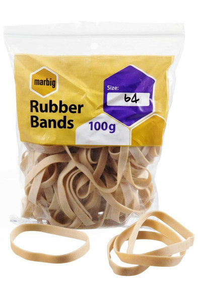 Marbig Rubber Bands Size 64 94564100B