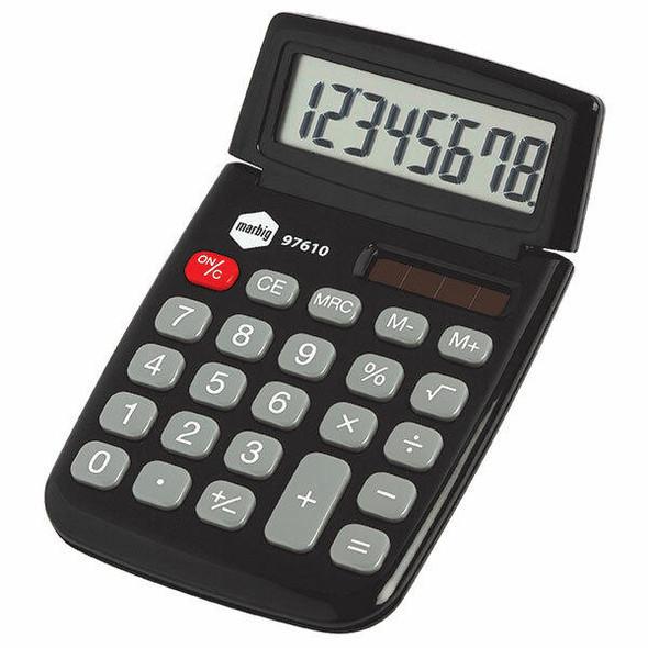 Marbig Calculator Pocket 8 Digit Dual Power X CARTON of 12 97610