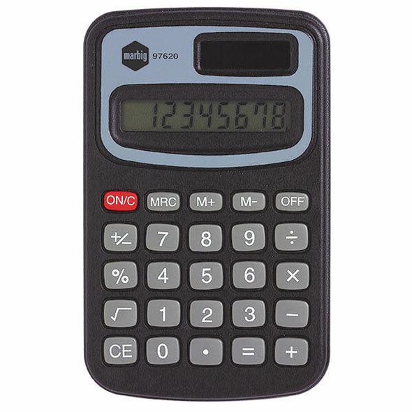 Marbig Calculator Pocket Mini 8 Digit X CARTON of 6 97620
