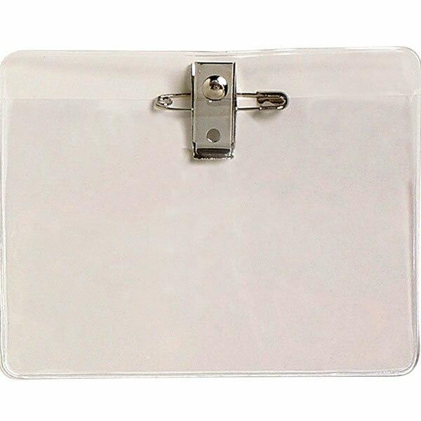 Rexel Id Card Holder Large With Pin and Clip 113x84 Pack10 9801612