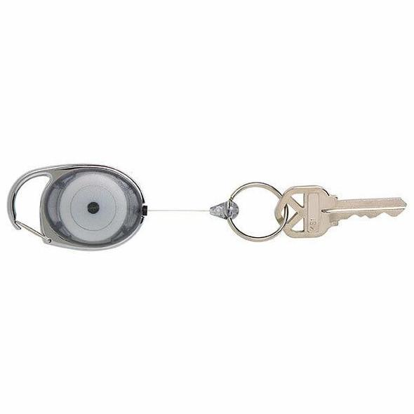 Rexel Id Retractable Snap Lock Key Holders Charcoal X CARTON of 4 9806011
