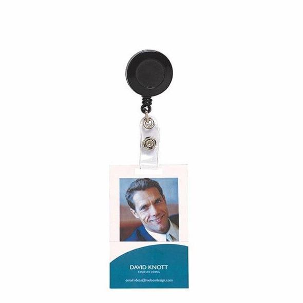 Rexel Id Retractable Card Holder With S Black Hangsell X CARTON of 6 9810002