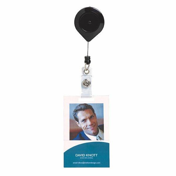Rexel Id Retractable Card Holder Nylon Cord Lockable Hangsell X CARTON of 6 9810102