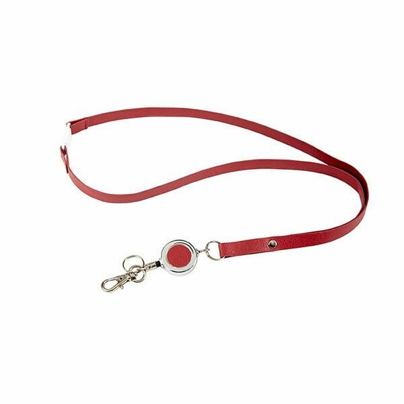 Rexel Id Leatherette Lanyard With Badge Burgundy X CARTON of 12 9861016
